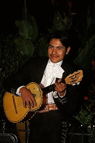 image 5-35-12 Mexico, Mexico City, Mariachi player, Plaza Garibaldi