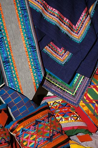 image 5-55-2 Textiles, Fabrics in bazaar