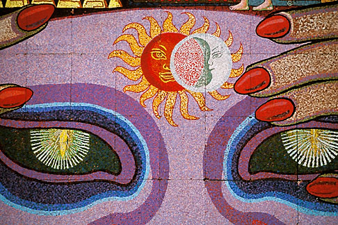 image 5-56-4 Mexico, Mexico City, Diego Rivera mosaic, History of Theater in Mexico, Teatro Insurgentes