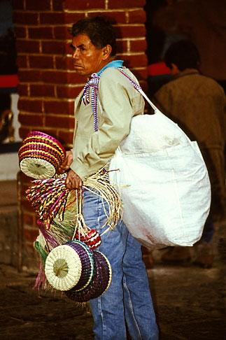 image 5-64-6 Mexico, Mexico City, Basket vendor