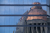abstracts architectural stock photography | Mexico, Mexico City, Reflection of Monumenta da la Revoluci�n, image id 5-69-1