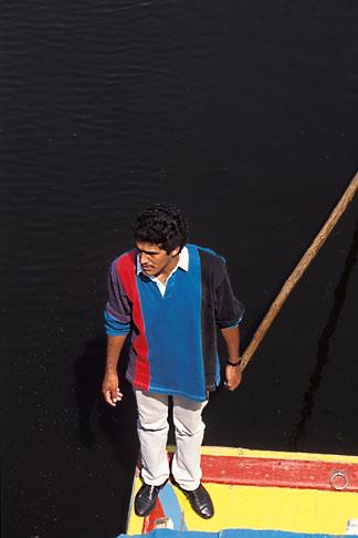 image 5-9-16 Mexico, Xochimilco, Sailing the canals in a trajinera