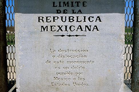 image S4-235-18 Mexico, Tijuana, Mexico USA Border monument