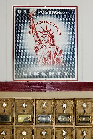 image 4-940-1075 Americana, Post Office boxes and Liberty stamp