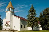 upper peninsula stock photography | Michigan, Upper Peninsula, Church, Nahma, image id 4-940-1098