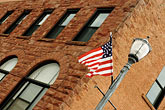us flag stock photography | Michigan, Upper Peninsula, Munising, Flag, image id 4-940-911