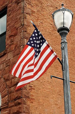 image 4-940-917 Michigan, Upper Peninsula, Munising, Flag