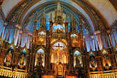 interior of church stock photography | Canada, Montreal, Basilica de Notre Dame, image id 6-460-1594