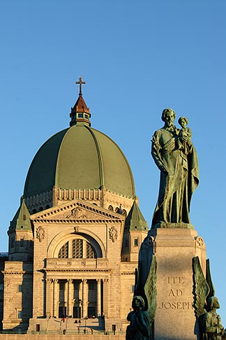 image 6-460-1780 Canada, Montreal, Mount Royal, Saint Josephs Oratory, Statue of Joseph and Jesus