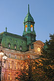 town hall clock tower stock photography | Canada, Montreal, Hotel de Ville, image id 6-460-2121