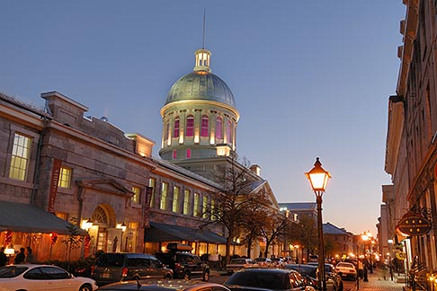 image 6-460-2391 Canada, Montreal, Bonsecours Market at night