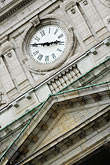 angle stock photography | Canada, Montreal, Hotel de Ville, clock tower, detail, image id 6-460-7290