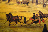sleigh stock photography | Canada, Montreal, Painting of horse and sleigh, image id 6-460-7330