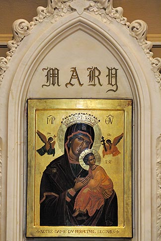 image 6-460-7367 Canada, Montreal, Saint Patricks Basilica, Icon of Mary