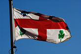 close up stock photography | Canada, Montreal, Flag of City of Montreal, image id 6-460-7408