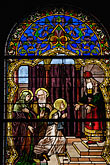 vertical stock photography | Canada, Montreal, Mount Royal Cemetery Chapel, Stained Glass, image id 6-460-7446