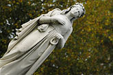 angle stock photography | Canada, Montreal, Mount Royal Cemetery, statue on tombstone, image id 6-460-7483