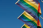 blue stock photography | Flags, Rainbow Flags for Gay Pride, image id 6-460-7768