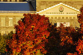 illuminated stock photography | Canada, Montreal, Bonsecours Market with fall foliage, image id 6-460-7859