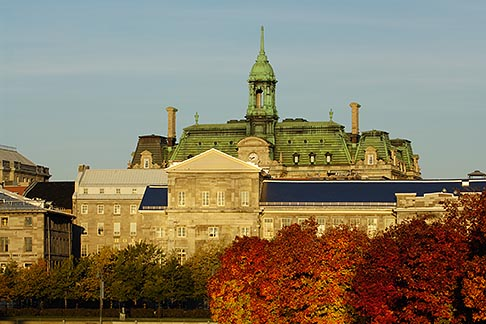 image 6-460-7866 Canada, Montreal, Hotel de Ville with fall foliage