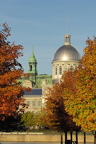 image 6-460-7905 Canada, Montreal, Bonsecours Market with fall foliage