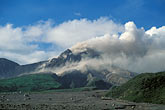 montserrat stock photography | Montserrat, Volcano, Pyroclastic flow and ash cloud above Long Ground, image id 0-151-98