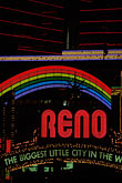 illuminated stock photography | Nevada, Reno, Reno Arch, image id 0-326-35