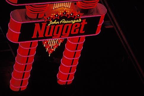 image 0-326-39 Nevada, Reno, City lights at night