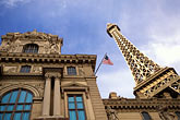 and eiffel tower stock photography | Nevada, Las Vegas, Paris Hotel and Casino , image id 3-901-16