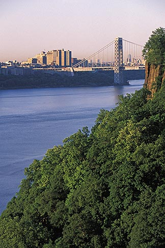 image 1-488-4 New Jersey, Palisades, George Washington Bridge and Palisades
