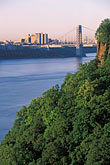 suspension bridge stock photography | New Jersey, Palisades, George Washington Bridge and Palisades, image id 1-488-4