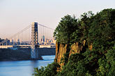 suspension bridge stock photography | New Jersey, Palisades, George Washington Bridge and Palisades, image id 1-488-7
