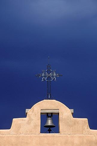 image 6-245-36 New Mexico, Santa Fe, Adobe church and sky