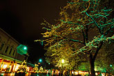 santa fe stock photography | New Mexico, Santa Fe, The Plaza at night, image id S4-200-10