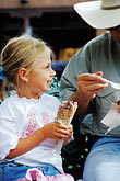 santa fe stock photography | New Mexico, Santa Fe, Young girl eating Ice Cream, image id S4-351-16