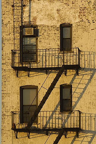image 5-848-0669 New York, New York, Apartment building, fire escape