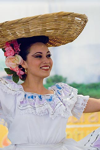 image 6-465-1392 Portraits, Nicaraguan dancer in traditional folk costume