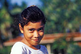coy stock photography | Niue, Young girl, Vaiea village, image id 9-500-25