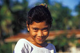 coy stock photography | Niue, Young girl, Vaiea village, image id 9-500-26