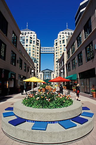 image 1-99-11 California, Oakland, City Center Plaza