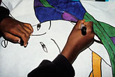 ethnic stock photography | California, East Palo Alto, Child drawing a poster, image id 3-231-16