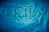 listen stock photography | Sign, Listen, image id 3-231-32