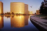 office hi rise stock photography | California, Oakland, Lake Merritt at dawn, image id 3-381-31