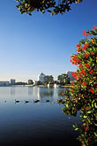twilight stock photography | California, Oakland, Lakeside Park, Lake Merritt, image id 3-382-14