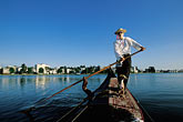 man stock photography | California, Oakland, Lake Merritt, Gondola Servizio, image id 4-729-91