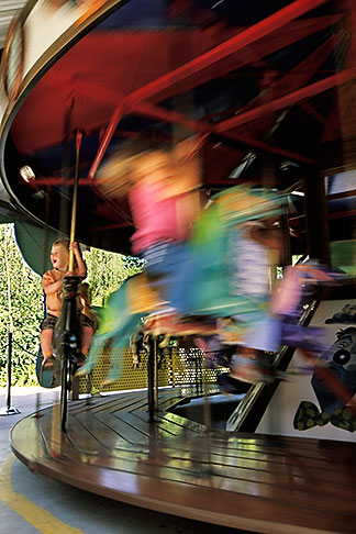 image 4-730-20 California, Oakland, Childrens Fairyland, Flecto Carousel