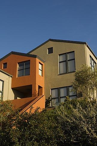 image 4-739-5 California, Oakland, Oakland Hills, rebuilt house