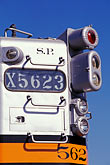silver stock photography | California, Oakland, Southern Pacific locomotive, image id 6-204-28