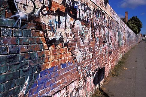 image 9-441-13 California, Oakland, Graffiti wall