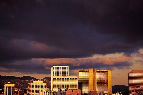 image 9-444-23 California, Oakland , City skyline at sunset